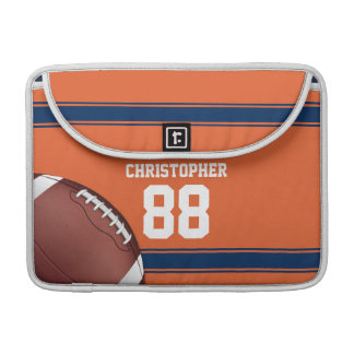 Orange and Blue Stripes Jersey Football Sleeve For MacBook Pro