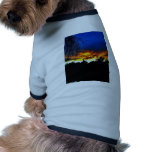Orange and Blue Sunset Doggie T-shirt
