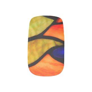 Orange and Blue Tiffany Minx® Nail Art