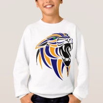 Orange and Blue Tiger Head Sweatshirt