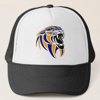 Orange and Blue Tiger Head Trucker Hat