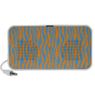 Orange and Blue Zebra Print Notebook Speakers