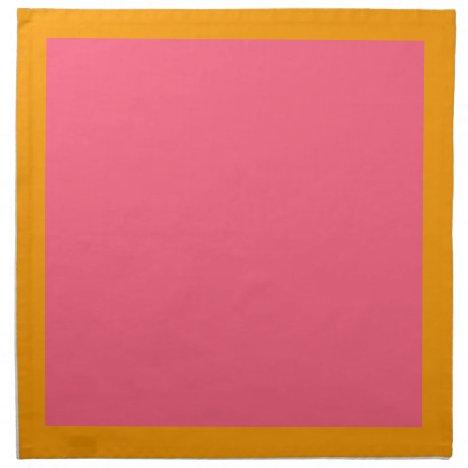 Orange and Bright Pink Napkins