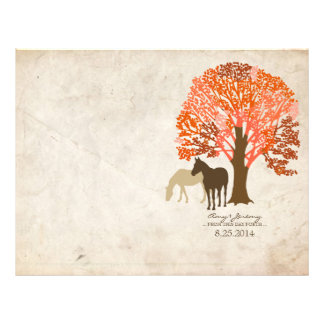 Orange and Brown Autumn Horses Flyer