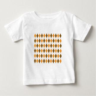Orange and Brown Diamond Pattern Shirt