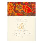 Orange and Brown Fall Floral Wedding Invitation