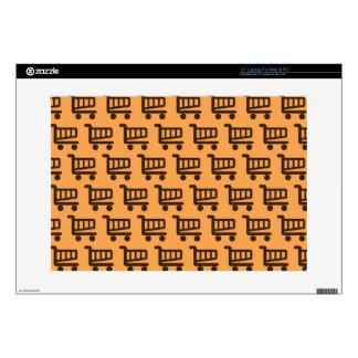 orange and brown shopper laptop skin