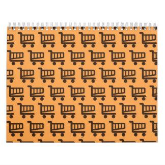 orange and brown shopper calendar