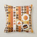 Orange and Chocolates Pillow