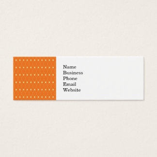 Orange and Cream Diamonds Square Argyle Pattern Mini Business Card