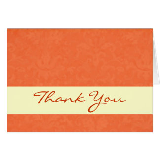 Orange and Cream Elegant Thank You H205 Cards