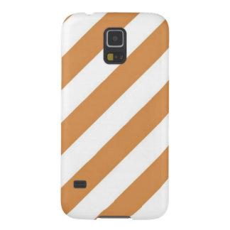 Orange And Cream  Stripe Galaxy S5 Cover