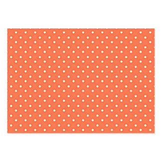 Orange and Cream Vintage Polka Dots Pattern Large Business Card