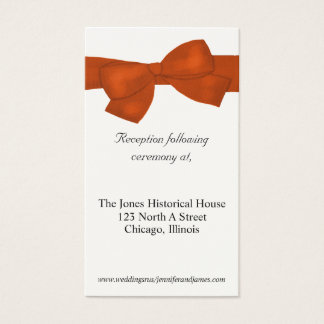Orange and Cream Wedding enclosure cards