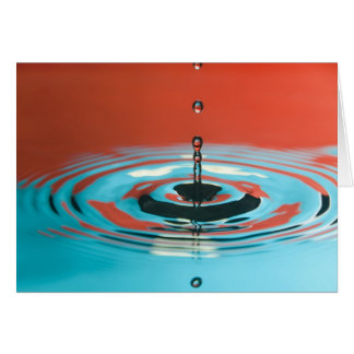 Orange and Cyan Water Droplet Card