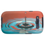 Orange and Cyan Water Droplet Samsung Galaxy SIII Covers