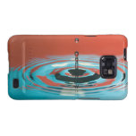 Orange and Cyan Water Droplet Galaxy S2 Case