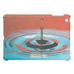 Orange and Cyan Water Droplet Case For The iPad Mini