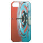Orange and Cyan Water Droplet iPhone 5C Cover