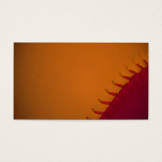 Orange and Dark Red Baseball Business Card
