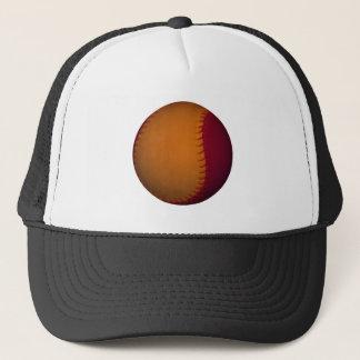 Orange and Dark Red Baseball Trucker Hat