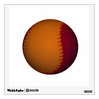 Orange and Dark Red Baseball Wall Sticker