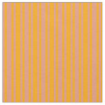 [ Thumbnail: Orange and Dark Salmon Colored Pattern of Stripes Fabric ]