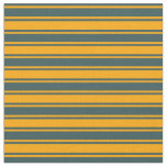[ Thumbnail: Orange and Dark Slate Gray Colored Lined Pattern Fabric ]