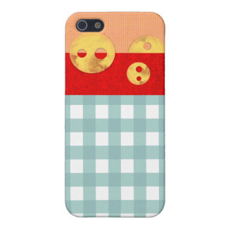 Orange and gingham iPhone 4 Case