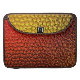 Orange and Gold Metallic Reptile Macbook Sleeve