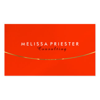Orange And Gold Modern Geometric Design Business Card
