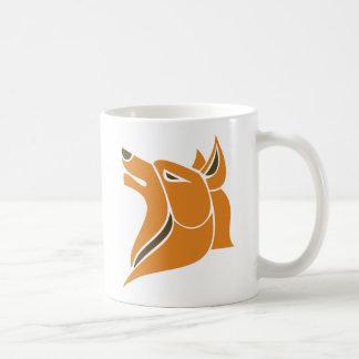 Orange and Gold Solid Wolf Head Coffee Mug