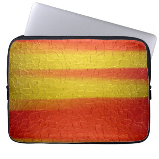 Orange and Gold Stainless Steel Metal Computer Sleeve