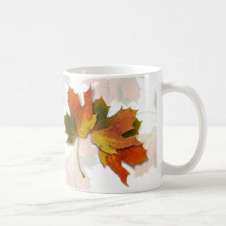 Orange And Golden  Autumn Leaves Coffee Mug