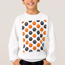 Orange and Gray Basketball Pattern Sweatshirt