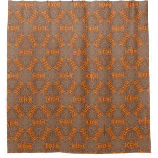 brown and orange shower curtain. Orange and Gray Brown Mocha Shower Curtain And Curtains  Zazzle