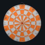 """Orange And Gray Dartboard<br><div class=""""desc"""">Orange And Gray Dart Board</div>"""