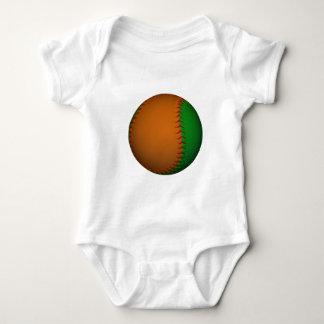 Orange and Green Baseball Baby Bodysuit