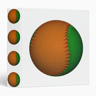 Orange and Green Baseball Binder