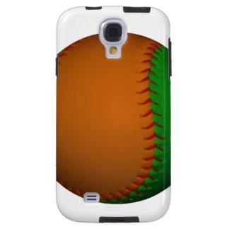 Orange and Green Baseball Galaxy S4 Case