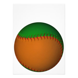 Orange and Green Baseball Personalized Announcements