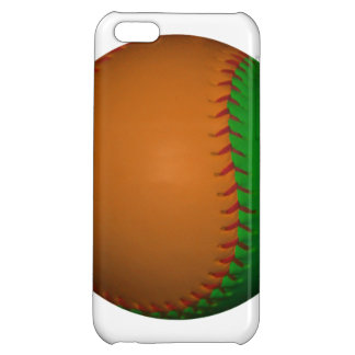 Orange and Green Baseball iPhone 5C Cases