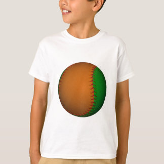 Orange and Green Baseball T-Shirt