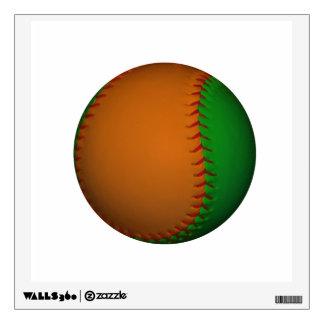 Orange and Green Baseball Wall Decal