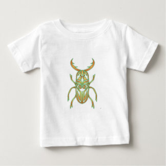 Orange and Green Beetle Baby T-Shirt