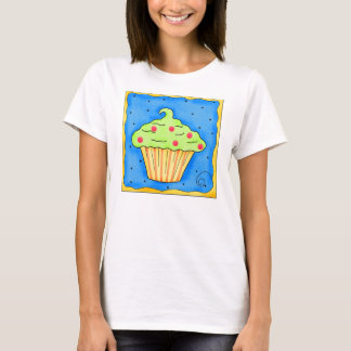 Orange and Green Cupcake Tee Shirt