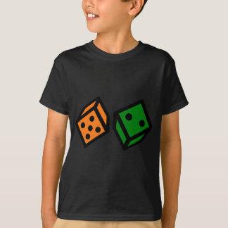 Orange and Green Dice T-Shirt