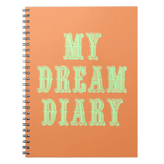Orange and Green Dream Diary Spiral Notebook