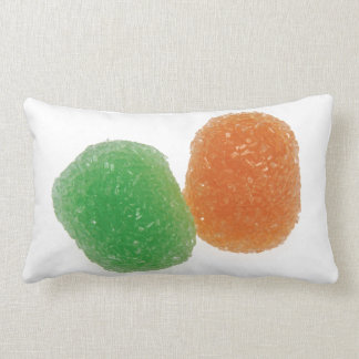 Orange and Green Gumdrops Lumbar Pillow