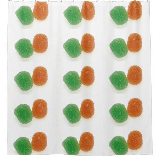 Orange And Green Gumdrops Shower Curtain Zazzle